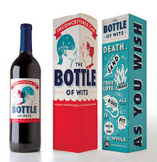 the bottle of wits designed by helms workshop packaging design