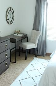 clean and classy guest room makeover