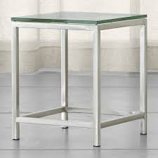 Glass End Tables Era Glass Side Table In End Tables Reviews Crate And Barrel