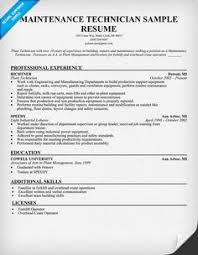 Maintenance Resume Example by Hvac Technician Resume Examples