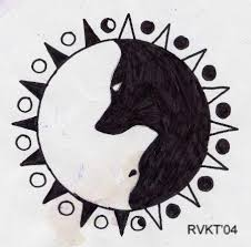 collection of 25 wolves yin yang
