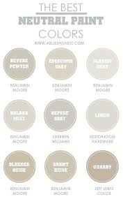neutral paint colors to use from room to room benjamin moore