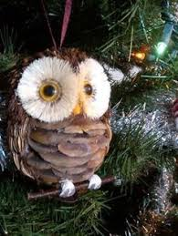 pine cone owl ornaments top pins owl ornament owl and