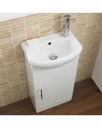 Vanities For Small Bathrooms Sale by Spring Sale White Small Floorstanding Vanity Vessel Sink 16