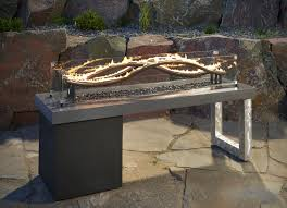 Gas Firepit Table The Wave Linear Gas Pit Table Pits Patio Furniture With