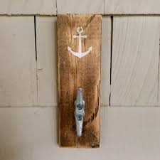 nautical wood boat cleat hanger