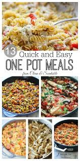 Quick Simple Dinner Ideas One Pot Meals Clean And Scentsible