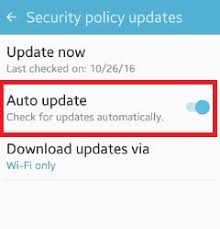 android security policy updates how to enable auto update security policy android phone