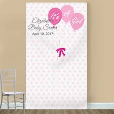 photo booth backdrop it s a girl personalized photo booth backdrop baby shower