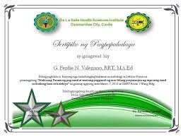 certificate of appreciation own made tagalog by clgenesis on