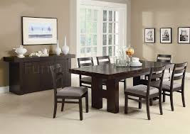 Dining Room Furniture Server Dabny Dining Table 103101 Cappuccino W Optional Server U0026 Chairs