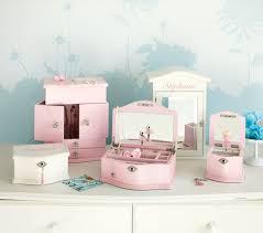 personalized ballerina jewelry box abigail jewelry box collection white pottery barn kids