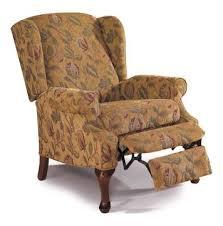 spacious heathgate wingback high leg recliner chair by lane home