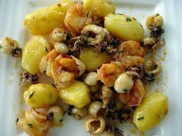 cuisiner la seiche fraiche recette de seiches gambas pommes de terre nouvelles