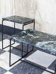 Marble Table Top Side Table With Marble Table Top In Green Or Black