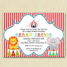 circus big top baby shower invitation printable invitation