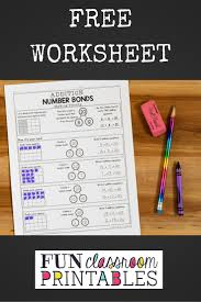 free number bonds to 20 worksheet from funclassroomprintables com