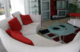 Red Curved Sofa by Using Curved Sofas And Loveseats