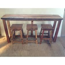 wood counter height table reclaimed barn wood breakfast bar