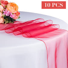 tulle table runner 10pcs lot wholesale organza table runner for wedding party hotel