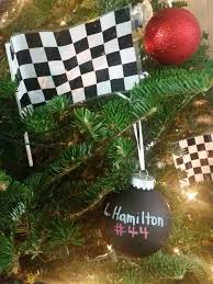 lewis hamilton ornament formula one racing tree