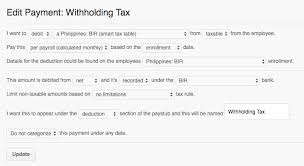 withholding tax table 2016 how payrollhero computes the philippine bir tax deduction