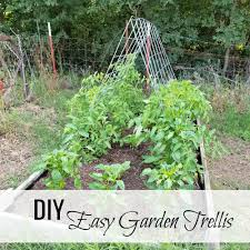 diy easy garden trellis oak hill homestead