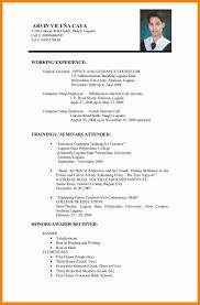 sle resume for college students philippines resume sle for teacher fresh graduate resume ixiplay free