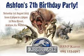 Jurassic World Bedroom Ideas Personalised Jurassic World Invitations