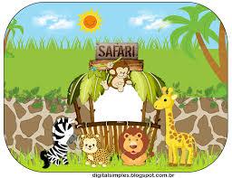 safari kit digital de aniversário tema safári menino para imprimir