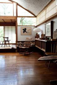 japanese home decor with rustic furniture and sliding shoji screen