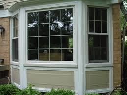 exterior white wall with white bay windows lowes and white trim