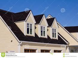 Dormer Roof Design House With Three Dormer Windows Stock Photo Image 23490460