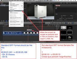 finalsrt bring your srt subtitles to final cut pro