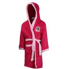 peignoir de chambre robe de chambre peignoir soy fushia taille de 4 à 12 ans ne