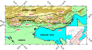 Map Of Persian Gulf The Kinematics Of The Zagros Mountains Iran Geological Society