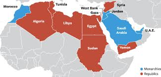 middle east map interactive unrest in africa and the middle east elearning exles