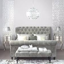 Studded Bed Frame Silver Grey Crushed Velvet Chesterfield Upholstered Studded Bed