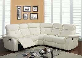 White Leather Recliner Sofa White Leather Reclining Contemporary Modern Sectional Yelp