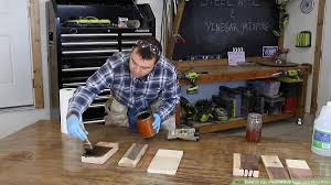 is it safe to use vinegar on wood cabinets how to age wood with vinegar and steel wool 11 steps