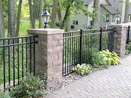 Patio Post Lights Backyard Patio Fence With Posts And Accent Lighting Contemporary
