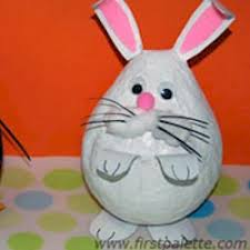 easter egg pinata easter bunny paper mache pinata craft preschool education for kids