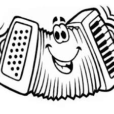 accordion funny face in musical instruments coloring pages bulk