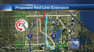 Cta Red Line Map Red Line Extension Project Moving Forward Abc7chicago Com