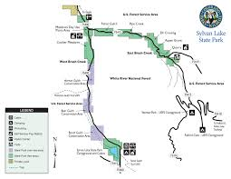 Colorado State Map by Sylvan Lake State Park Outthere Colorado