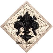 tile medallions for kitchen backsplash bronze accent tile fleur de lis mini medallion kitchen backsplash 10