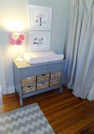 Change Table Color Mila S Vintage Modern Nursery Nursery Storage Change Tables And