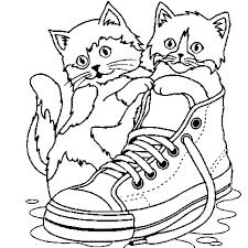 Coloriage Petit chat en Ligne Gratuit à imprimer