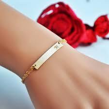 bar bracelet custom name bracelet engraved bracelet gold silver