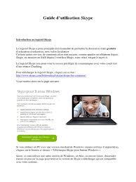 skype pour bureau coaching guide utilisation skype